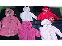 Baby girls / toddlers coats very good condition