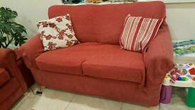 Red sofa and chair suite