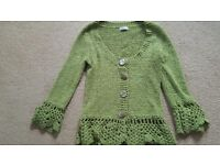 PER UNA LIME GREEN CARDIGAN - SIZE SMALL (SIZE 12) - WORN ONCE