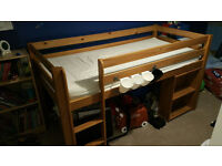 Raised children's cabin bed - with mattress (free to good home)