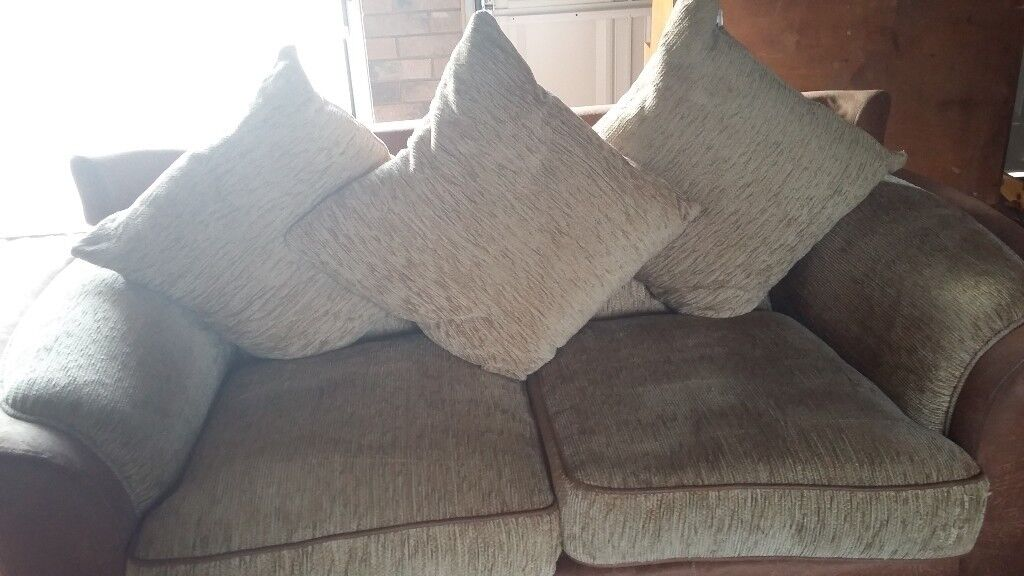 2 seater sofa and swivel chair-good condition