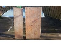2 sections solid wood antique table tops