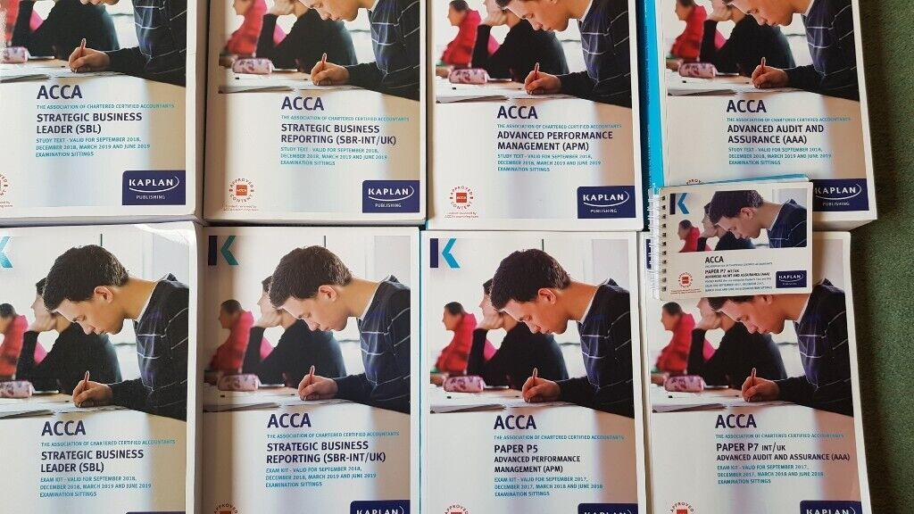 ACCA Kaplan textbooks and exam kits | in Carnoustie, Angus | Gumtree