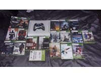 xbox 360 with games with 1 controller and hardrive