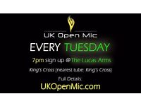 UK Open Mic | 7pm | EVERY TUESDAY @ The Lucas Arms, King's Cross