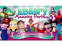 MAGICIAN CLOWN Children's Party Entertainer SPIDERMAN Mickey Minnie MASCOT HIRE MASCOTS KIDS SURREY