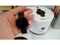 Moto 360 Smartwatch with box and accessories in good condition