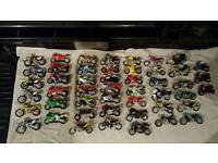 Collection of 48 x maisto model scale 1:18 bikes / motorcycles