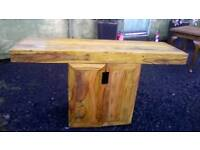 AWESOME Large solid wood rustic bench top table/sideboard/unit