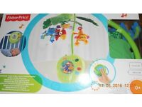 Fisher-Price Rainforest Peek-A-Boo Leaves Musical Mobile -NEW -RRP £50