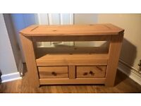 Wooden TV unit with drawers