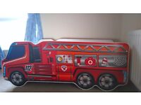 Small childrens bed a fire truck