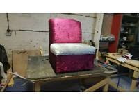 Crush velvet chair for sale