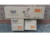 EVERLAST BENCH & 50KG WEIGHTS & BARBELL & DUMBBELLS - BRAND NEW & BOXED