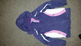 Girls purple ski style Jacket. 7-8 years