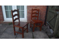 Shabby Chic. Two solid chairs