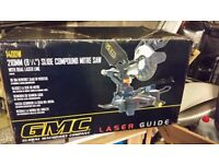 new GMC slide compound mitresaw LSMS210