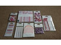 Dovecraft Back to Basics Perfectly Pink Craft Bundle (Cardmaking, Scrapbooking)
