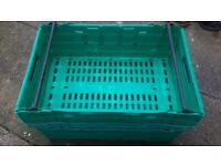 Storage roll bar crates, weatherproof, strong, vented, multi colours
