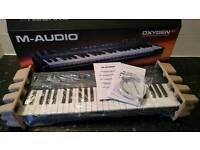 Maudio oxygen midi usb keyboard boxed unused