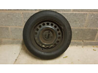 VAUXHALL ASTRA MK4 98-04 SPARE WHEEL RADIAL 185/65 R15 4MM TYRE AND RIM