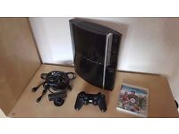 Sony PlayStation 3 Black Console with Controller, Fifa 2013 & cam