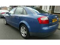 2002 AUDI A4 1.9TDI SE 130 5SPEED BLUE 1YEAR MOT DRIVE SMOOTH QUICK SALE £795 O N O