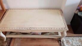 Cream Coffee Table Shabby Chic Living Room Furniture