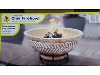La Hacienda Clay Firebowl with Stand