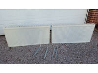 Two 1200mm central heating radiators