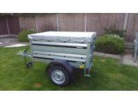 Brenderup 1150s Car trailer +extension sides + flat cover.