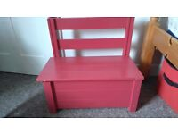 Wooden painted toy box