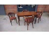 Ex pub table and four chairs
