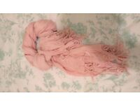 Pink, spring, light and supersoft scarf, shawl