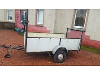 Trailer 8x4 single wheel