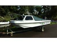 Pilot 520 fishing boat dory project with trailer