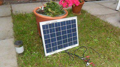 NEW 10W 12v Energy+ Solar Battery Charger - TUV ISO UK - Polycrystalline - <2Kg