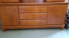 Excellent quality display cabinet with sideboard