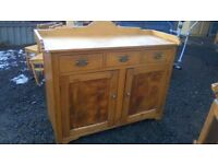 WOW Stunning large vintage solid pine sideboard/kitchen unit