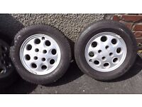 Ford SIERRA/COSWORTH/SAPPHIRE, Set Of 5 Wheels & Nearly new Tyres, 195/65 R 14
