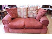 teracotta colour 2 seater sofa