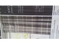 """NEW NEXT CURTAINS GREY CHECK 45""""X90"""" £35"""