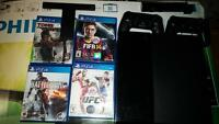 PS4/Playstation 4 2 controllers, 1.5 year warranty , 5 games