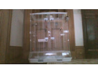 Large Hagen Vision bird cage with accessories