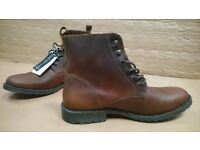 Jack and Jones Mens Size 10 Crust Leather boots / Chelsea boots (new)