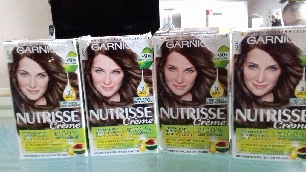 4 Garnier Hair Colour Kits Nutrisse Creme In Mocha Brown In Bury