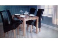 3 ft Oak dining Table. Brand New. Still in box (leather chairs also available on other ad )