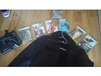 Dvd player/xbox 360 games/jacket