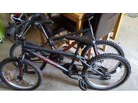 2 x boys bmx style bikes