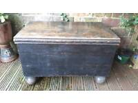 Old large solid wooden chest